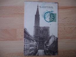 Liberation Alsace Cachet Bleu Provisoire Francais  Strasbourg  1918 - Poststempel (Briefe)