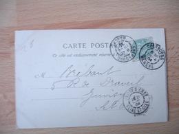 Daguin Double Jumele Cherbourg Obliteration Sur Letttre - Poststempel (Briefe)