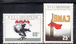 XP4006 - ALBANIA 1985 , Yvert Serie N. 2070/2071  ***  Vittoria Sul Fascismo - Albania