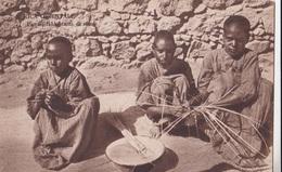 AFRICA ORIENTALE PICCOLI FABBRICANTI DI STUOIE   AUTENTICA 100% - Cartoline