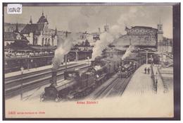 ADIEU ZÜRICH - BAHNHOF - BAHN - TRAIN - B ( LEGER PLI D'ANGLE ) - ZH Zurich