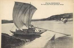 -ref-B271- Portugal - Publicite Porto Borges -en Route Pour Porto ..- Voiliers - Bateaux - Vin- Vins - Bordeaux - - Portugal