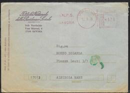 STORIA POSTALE REPUBBLICA - AFFRANCATURA MECCANICA ROSSA I.N.P.S. SAVONA 12.09.1978 DA SAVONA - Affrancature Meccaniche Rosse (EMA)