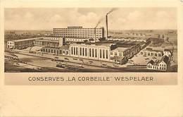 -ref-B270- Belgique - Wespelaer - Wespelaar - Publicité Conserves La Corbeille - Usine - Usines - Industrie -gastronomie - Autres