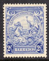 BARBADOS - 1938-1947 TWO PENCE HALFPENNY ULTRAMARINE DEFINITIVE 1938 COLONY SEAL PERF 13.5 X 13 REF A MINT MM * SG 251 - Barbados (...-1966)