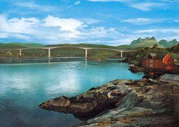 1 AK Norwegen * The Saltstraumen Bridge With Borvasstindene To The Right - Provinz Nordland * - Norwegen