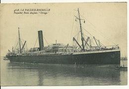 "17 - LA PALLICE - LA ROCHELLE / PAQUEBOT POSTE ANGLAIS ""ORTEGA"" - La Rochelle"
