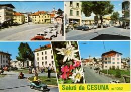 CESUNA  ROANA  VICENZA  Saluti Da.. Vedutine Edelweiss  Macchinine  Bar Lemerle - Vicenza