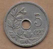5 Centimes 1907 FR - 1865-1909: Leopold II
