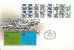 BERLIN  MH 14 + 15, FDC, Markenheftchen-Ersttagsbrief, Sehenswürdigkeiten 1989 - Berlin (West)