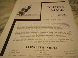 ANCIENNE PUBLICITE LE VIENNA MASK ELIZABETH ARDEN 1931 - Parfums & Beauté