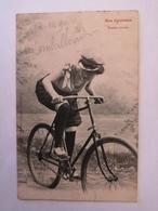 CPA JURA SUISSE / DOUBS : Nos Cyclistes / Femme Coureur  / Boncourt - Cycling