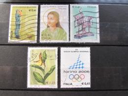 *ITALIA* LOTTO 5 USATI 2002 - FORESTALE GORETTI ACQUI FLORA TORINO 2006 - 6. 1946-.. Repubblica