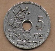 5 Centimes 1907 FL - 1865-1909: Leopold II