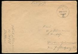 P0419 - DR Feldpost Briefumschlag : Gebraucht Feldpost Normstempel Mit Nr. 258 Stettin - Berlin 1939 . Bedarfserhaltun - Allemagne