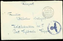 P0375 - DR Propaganda Feldpost Briefumschlag Mit Landpoststempel : Gebraucht Elsegrund über Döberitz Übungsplatz - Syl - Briefe U. Dokumente