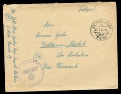P0374 - DR Propaganda Feldpost Briefumschlag Mit Landpoststempel : Gebraucht Zeithain Lager über Riesa - Stollhamm Ahn - Germany