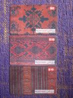 Roshan GSM Recharge Card, Set Of 3,used - Afghanistan