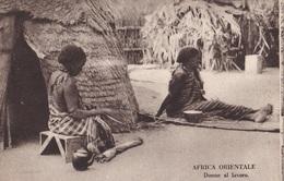 AFRICA ORIENTALE DONNE AL LAVORO  AUTENTICA 100% - Cartoline