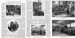 LA FABRICATION MECANIQUE Des TONNEAUX   1914 - Autres Collections