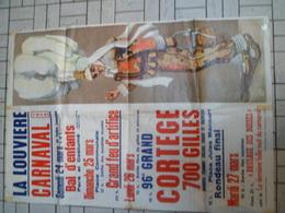 Magnifique Grande Affiche DU CARNAVAL DE LA LOUVIERE DE 1979 - 89 Cm X 60 Cm - MICHAUX - Affiches