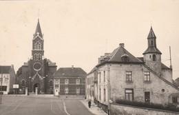 Moustier - Sur - Sambre : Place Communale ; (  Photocarte Agfa ) - Jemeppe-sur-Sambre