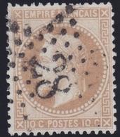 N°28 Oblitéré étoile Chiffrée 28, Belle Frappe, TB - 1863-1870 Napoléon III Lauré