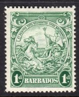 BARBADOS - 1938-1947 ONE PENNY BLUE-GREEN DEFINITIVE 1942 COLONY SEAL PERF 14 REF B MOUNTED MINT MM * SG 249bc - Barbados (...-1966)