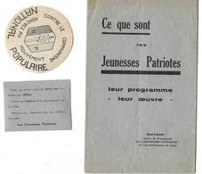 Politique - Extreme Droite - Jeunesses Patriotes - Programme - Anticommuniste - Bolcheviste - Taittinger - Documents Historiques