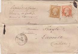 LETTRE.  1860. PAPIERS D'AFFAIRES. TARIF 50c. ARDECHE TOURNON POUR LAVOULTE - Marcophilie (Lettres)