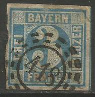 Bavaria - 1850-8 Numeral 3k Plate 3 Used    SG 4 - Beieren