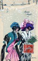 Illustrateur Sager Xavier, Femme Esseulée, L'hiver, Serie K F 4281 - Sager, Xavier