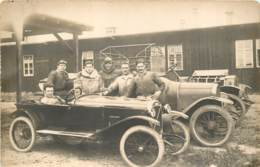 Très Belle Carte Photo De Voitures Anciennes: Salmson Torpedo Chenard-Walcker - Course Automobile ? Non Situé Circa 1920 - Voitures De Tourisme