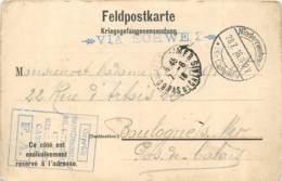 Prisonnier De Guerre à Kassel Cassel - Kriegsgefangener 1916 - Leon Decalion Pour Mme Lepagnot à Boulogne S/ Mer FM - Guerre 1914-18