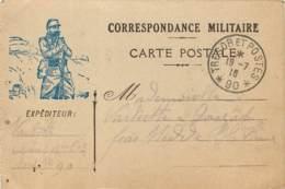 Carte De Franchise Militaire De 1916 Posté Pour Mme Varliette De Louzat Par Nedde (87) 63e Regiment D'infanterie - Guerre 1914-18