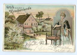 Y7118/ Gruß Aus Dem Kirchenlande Altenlande Trachten Litho AK 1903 - Ohne Zuordnung