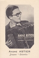 "ACCORDEONS  :  ANDRE  ASTIER  SUR  ACCORDEON  ""  CAVAGNALO  ""  (  DISQUES  ""  COLUMBIA  )  . - Music And Musicians"