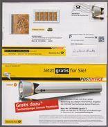 P 241) BRD Ganzsache 2011 Dt Post Office 1 Infopost WSt: Taschenlampe Lampe; Abbildung: Urvogel Archaeopteryx - [7] Repubblica Federale