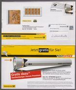 P 241) BRD Ganzsache 2011 Dt Post Office 1 Infopost WSt: Taschenlampe Lampe; Abbildung: Urvogel Archaeopteryx - [7] République Fédérale