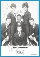 (A950a) - Signature / Dédicace / Autographe Original - Les SURFS - Groupe Vocal Madagascar - Autographs