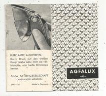 Publicité AGFALUX ,AGFA AKTIENGESELLSCHAFT ,dépliant 10 Pages - Publicités