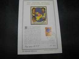 """BELG.1973 1673 FDC Lessive : Feuillet D'art Or Fin Limité à 900 Exemplaires (n°947)""""5ème Journée Mondiale Des Télécommun - FDC"""