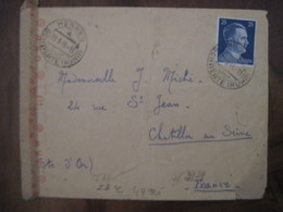 Allemagne France 1944 LAGER Organisation TODT Censure Lettre Enveloppe Cover Guerre Deutsches Reich DR STO Censure - Marcofilie (Brieven)