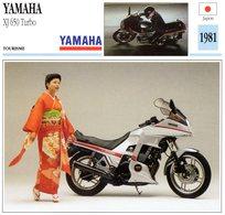 Yamaha XJ 650 Turbo   -  1981     -  Fiche Technique/Carte De Collection - Motorbikes