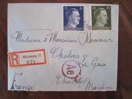Allemagne France Censure Lettre Enveloppe Cover Guerre Deutsches Reich DR STO Lager Zensur Recommandé Reco - Marcofilie (Brieven)
