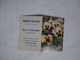 Calendrier De Poche 1980 Fleurs Pensées Pharmacie JOLLY Saint Victor Amiens - Kalender