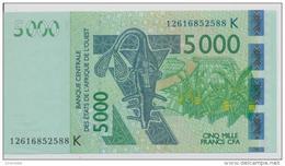 WEST AFRICAN STATES P. 717Kj 5000 F 2012 AUNC - Sénégal