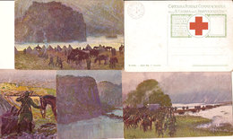 (CM).Croce Rossa.Lotto 5 Cartoline.F.to Piccolo (147-a18) - Red Cross