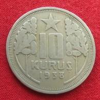 Turkey 10 Kurus 1938 KM# 863 Turquia Turquie - Turquie