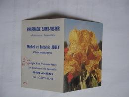 Calendrier De Poche 1980 Fleurs Iris Pharmacie JOLLY Saint Victor Amiens - Calendriers